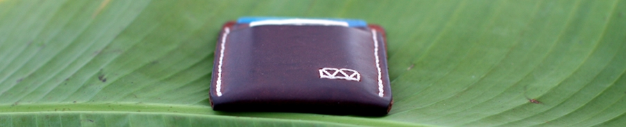 Slim Wallet on Banana Leaf