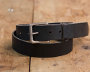 Vegetable Tanned Black Belt w/ Brass Buckle