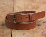Vegetable Tanned Brown Belt w/ Brass Buckle