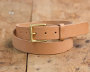 Natural Vegetable Tanned Belt w/ Brass Buckle