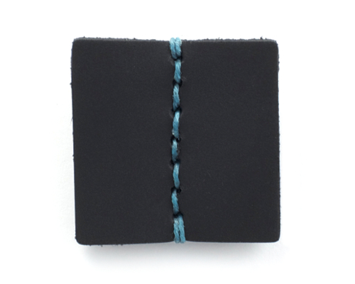 Handcrafted Slim Wallet with Teal