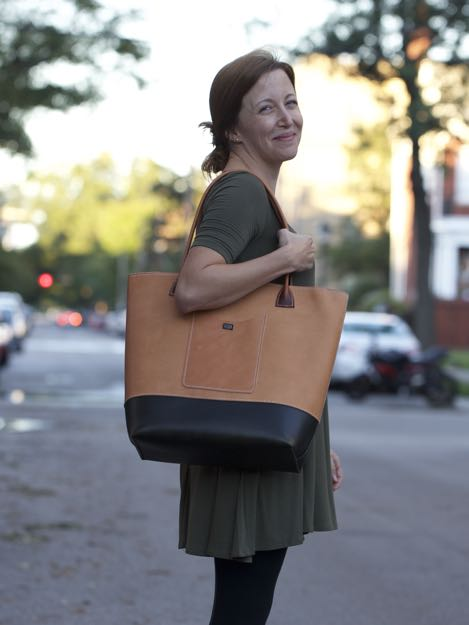 Handsewn Leather Tote