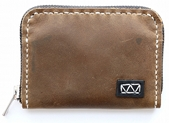 knox handcrafted leather zipper wallet