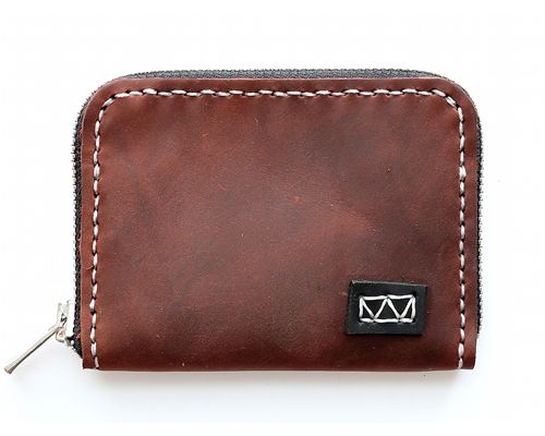 knox 3-sided handcrafted leather zipper wallet