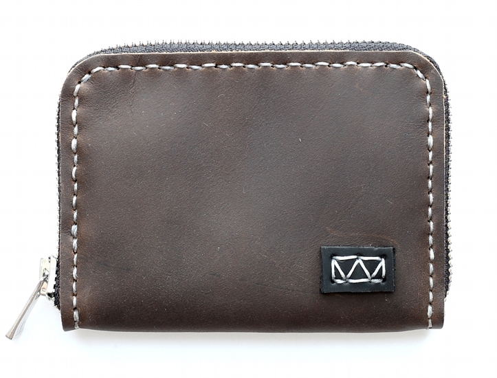 Knox 3-Sided Leather Zipper Wallet