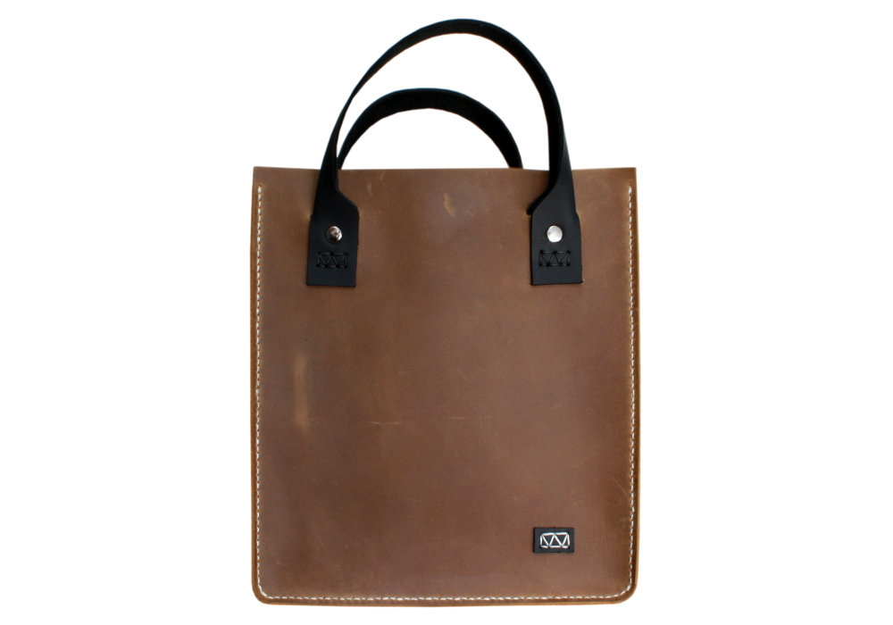 5880e3fd91cb4 Small Tote Bag. Handcrafted Leather Lunch Box Sized Tote