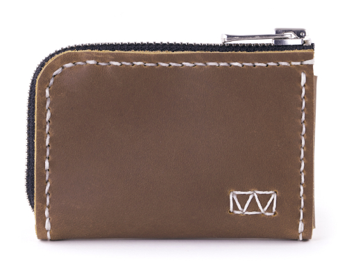 Matchbox 2-Sided minimalistd leather zipper wallet
