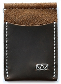 Pinnell handcrafted leather money clip wallet