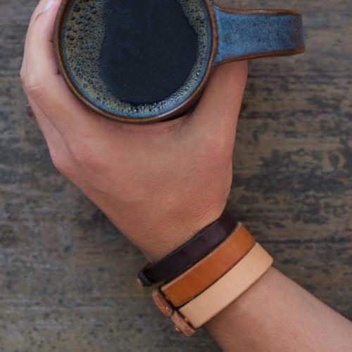 Coffee & Leather Bracelets