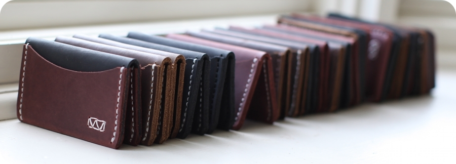 Handcrafted leather slim wallets and cardholders